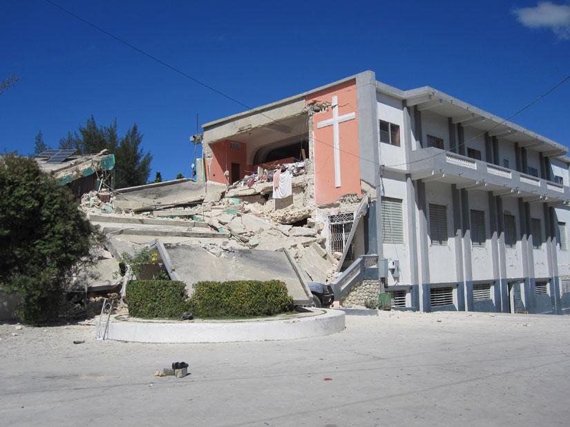 Le Collège Marie Dominique Mazzarello (CMDM) après le 12 janvier 2010